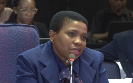 A screengrab of Advocate Nomgcobo Jiba testifying at the Mkgoro inquiry on 21 February. Picture: YouTube.