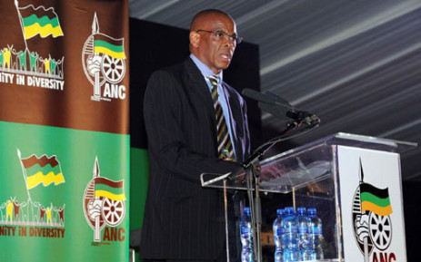 Free State Premier and provincial ANC chairman Ace Magashule speaks during the ANC 100th centenary celebrations in Bloemfontein on 7 January 2012. Picture: GCIS/SAPA