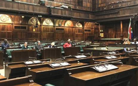 FILE: Members of Parliament's constitutional review committee gathering in Parliament on 21 June. Picture: Lindsay Dentlinger/EWN.