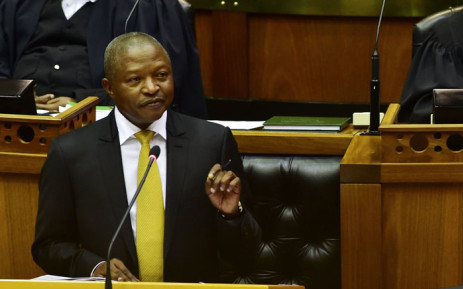 Deputy President David Mabuza answering questions at the National Assembly. Picture: @SAgovnews/Twitter