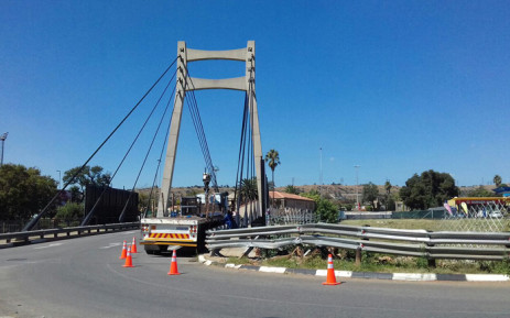 A bridge in Bedfordview where billboards have been erected despite municipal laws against it. Picture: Supplied