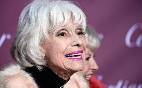 In this file photo taken on 3 January 2015 Carol Channing attends the 26th Annual Palm Springs International Film Festival Awards Gala at Parker Palm Springs in Palm Springs, California. Broadway icon Carol Channing. Picture: AFP