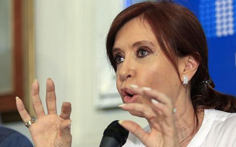 FILE: Former Argentina President Cristina Fernandez. Picture: AFP