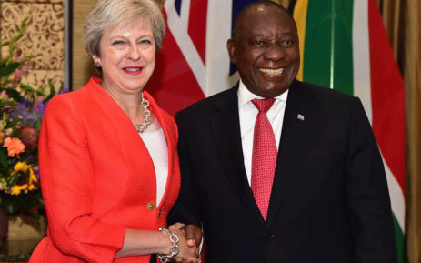 UK Prime Minister Theresa May (left) pictured with South African President Cyril Ramaphosa (right) in Cape Town on 28 August 2018, during a three-day visit to Africa. Picture: @PresidencyZA/Twitter