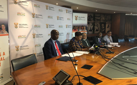 Basic Education Minister Angie Motshekga updating media on developments relating to the education sector. Picture: @DBE_SA/Twitter