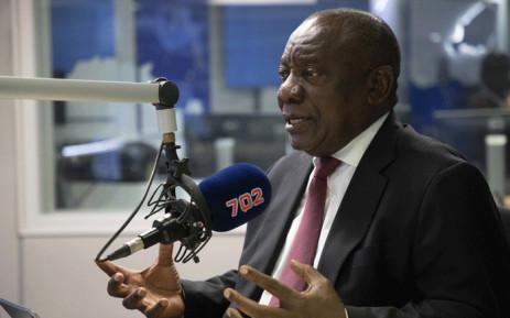 President Cyril Ramaphosa in conversation with Radio 702's Xolani Gwala on 13 December 2018. Picture: Abigail Javier/EWN