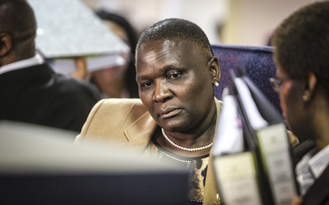 Suspended National Police Commissioner Riah Phiyega prepares for closing arguments at the inquiry into her fitness to hold office in Centurion on 1 June 2016. Picture: Reinart Toerien/EWN.
