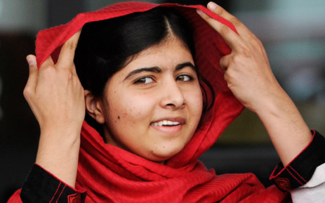 Malala Yousafzai in Birmingham, Britain, September 2013. Picture: EPA.