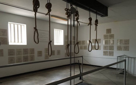 The actual gallows, at the Kgosi Mampuru Correctional Center, where hundreds of political prisoners were hanged by the apartheid government. Picture: Masego  Rahlaga/EWN