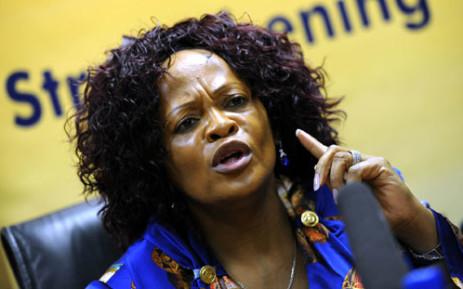 UNDER FIRE: Gauteng Premier Nomvula Mokonyane. Picture: Werner Beukes/SAPA