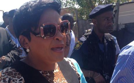 Gauteng Premier Nomvula Mokonyane visited the parents of two children who were murdered in Diepsloot. 15 October 2013. Picture: Lesego Ngobeni/EWN.