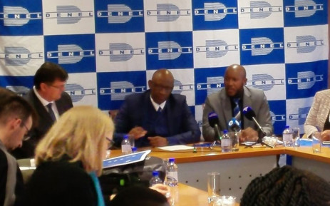 The Denel board announce financial results for the 2016/2017. Picture: @DenelSOC/Twitter