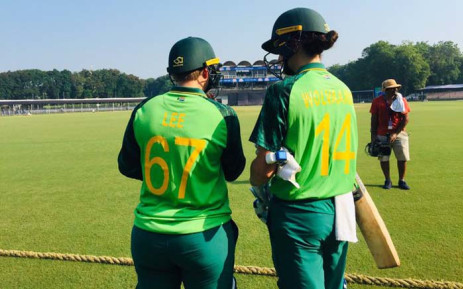 Proteas women players Lizelle Lee and Laura Wolvaardt during their ODI match with India on 9 October 2019 in India. Picture: @OfficialCSA/Twitter