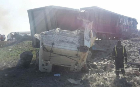 Twenty-two people died on 19 October 2018 after a fatal accident on the N1 north between Mookgophong and Kranskop in Limpopo. Picture: @TrafficRTMC/Twitter