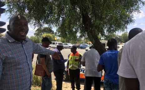 Street vendors vent their frustration as they try to negotiate with the JMPD not to remove from the Nasrec on 17 December 2017. Picture: Mia Lindeque/EWN