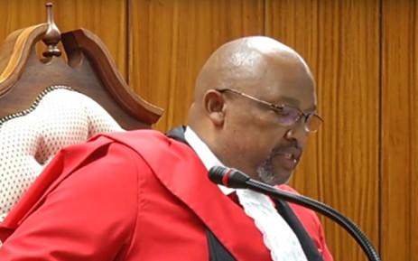 A screengrab of Judge Mandela Makaula.