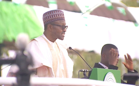 President Muhammadu Buhari was inaugurated in Abuja, Nigeria. Picture: AFP.