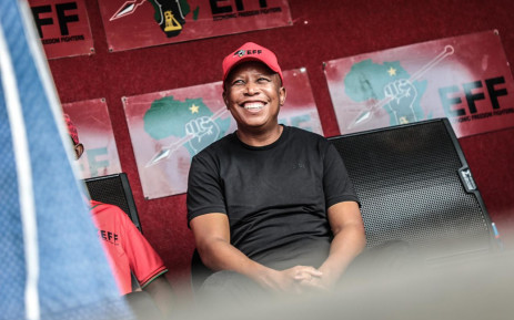 EFF party leader Julius Malema ahead of an address to supporters in the Madibeng Municipality in the North West on 8 October 2021. Picture: Abigail Javier/Eyewitness News