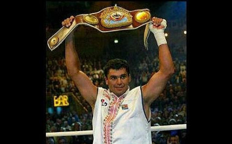 Corrie Sanders won the World Boxing Organisation title by knocking out Wladimir Klitschko in the second round in 2003. Picture: Facebook.