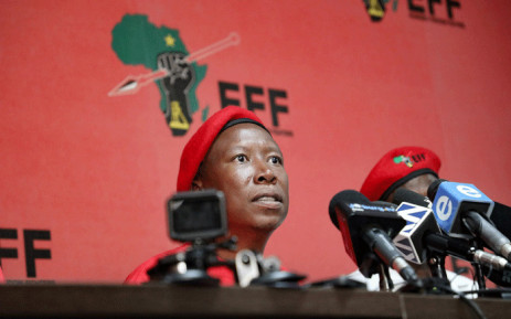 FILE: EFF leader Julius Malema addresses the media in Johannesburg on 10 April 2019. Picture: Kayleen Morgan/EWN.