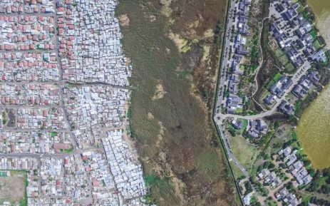 A bird's eye view of Masiphumelele and Lake Michelle. Picture: Johnny Miller/Millefoto.