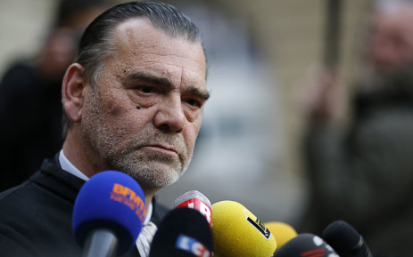 This file photo taken on 27 April 2016 shows Frank Berton, then lawyer of Paris attacks suspect Salah Abdeslam, speaking to the press at the Paris courthouse. Picture: AFP.