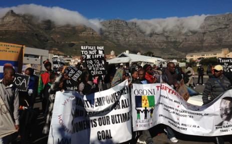 Refugees march in Cape Town. Picture: Aletta Gardner/EWN.