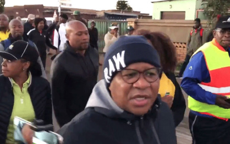FILE: ANC elections head Fikile Mbalula pictured on 18 May 2018 during an ANC campaign in Gauteng. Picture: @MbalulaFikile/Twitter