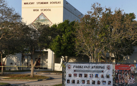 FILE: A general view of Marjory Stoneman Douglas High School as staff and teachers prepared for the return of students in Parkland, Florida on 27 February 2018. Picture: AFP