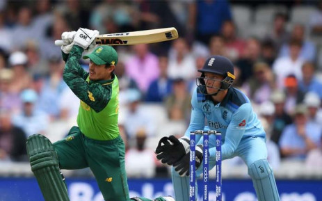 FILE: Proteas wicketkeeper-batsman Quinton de Kock in action against England at the ICC Cricket World Cup. Picture: @cricketworldcup/Twitter