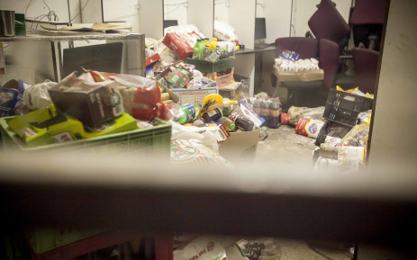Foreign nationals owning spaza shops grabbed what they could and brought it to this sanctuary in Mayfair, Johannesburg. Foreign spaza shop owners were forced to flee Soweto after they were targeted by residents who looted their shops. Picture: Thomas Holder/EWN