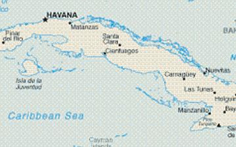 First Americans In Cuba Under Easier Us Travel Rules - Map-of-cuba-and-us