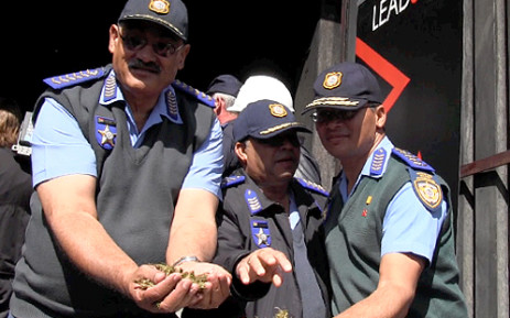 Western Cape SAPS celebrate the achievements of the three-month pilot Drug Watch campaign on 9 April 2013. Picture: EWN