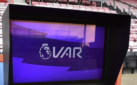 A picture shows the VAR (video assistant referee) monitor beside the pitch ahead of the English Premier League football match between Bournemouth and Sheffield United at the Vitality Stadium in Bournemouth, southern England on 10 August 2019. Picture: AFP