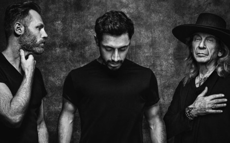 Sound of Metal director Darius Marder, Riz Ahmed, and Paul Raci photographed by Josh Telles for Deadline.