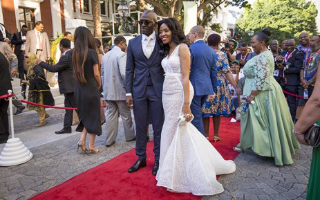 HAPPIER TIMES: Malusi Gigaba and his wife, Norma, on the SONA red carpet on 9 February 2017. Picture: EWN
