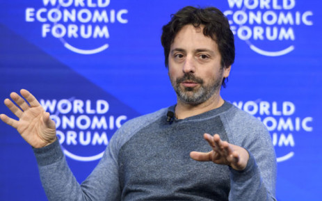 Google co-founder Sergey Brin gestures during a session of the World Economic Forum, on January 19, 2017 in Davos. Picture: AFP.