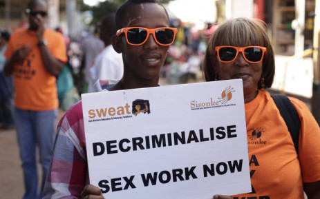 FILE: Members of the Sex Workers Education and Advocacy Taskforce (Sweat) demand decriminalisation of sex work. Picture: Sweat