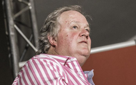 Investigative journalist Jacques Pauw at the official presentation of his latest book 'The President's Keepers' in Johannesburg on 8 November 2017. Picture: AFP