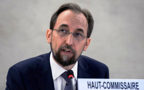 New High Commissioner of the United Nations (UN) for Human Rights, Zeid Ra'ad al-Hussein of Jordan, delivers his speech at the opening of the 27th session of the UN Human Rights Council on 8 September, 2014 in Geneva. Picture: AFP.