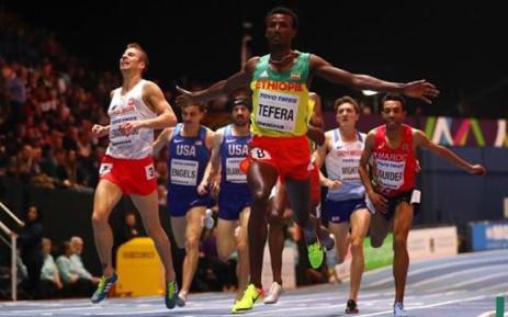 Ethiopia's Samuel Tefera. Picture: @iaaforg/Twitter