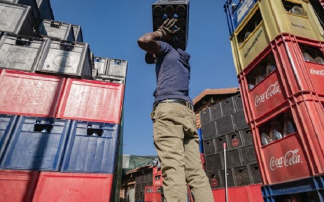 SAB beer crates are being gathered as Fenyane Bottle store prepares for alcohol sales, It will also be allowed again on the 18 August 2020. Alcohol will be permitted for on-site consumption in licensed establishments only up until 10 pm. Vosloorus, Ekuerhuleni. Picture: Sethembiso Zulu/Eyewitness News