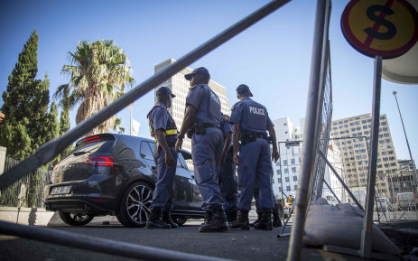 FILE: Police set up road blocks outside and around Parliament for #Sona2017. Picture: Thomas Holder/EWN