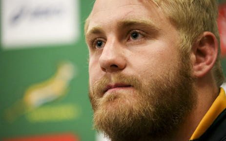 FILE: Vincent Koch addresses the media in Cape Town on 8 July 2015 after it was announced that he will make his debut for the Springboks against the World XV. Picture: EWN