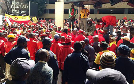 National Union of Mineworkers (NUM) members downed tools on 3 September. Picture: EWN