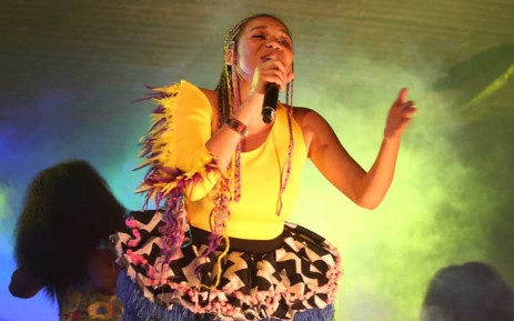 Limpopo's pride Sho Madjozi brought the heat at the Bassline stage. Picture: Bertram Malgas/EWN