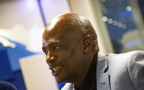 African Content Movement leader Hlaudi Motsoeneng in studio with Radio 702 presenter Eusebius Mckaiser. Picture: Kayleen Morgan/EWN
