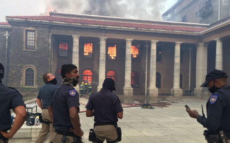 Authorities at the scene of the fire in UCT. Picture: Supplied.