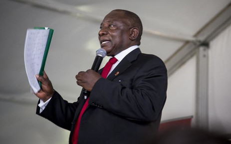 Deputy President Cyril Ramaphosa delivered an address during a World Aids Day event in Daveyton, east of Johannesburg, on 1 December 2016. Picture: Reinart Toerien/EWN