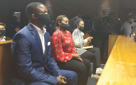 Pastor Shepherd Bushiri, his wife, Mary, and one of his co-accused appear in the Pretoria Magistrates Court on 4 November 2020. Picture: Kgomotso Modise/EWN